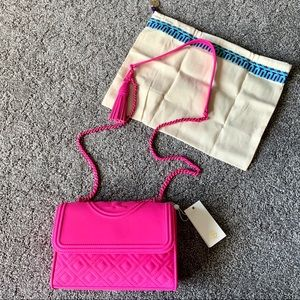 NWT Tory Burch Fleming Small Crazy Pink Matte